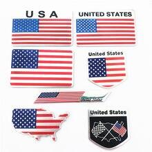 Estilo do carro auto eua adesivo 3d bandeira americana emblema emblema decalque decoração para ford cadillac chevrolet dodge ram toyota honda