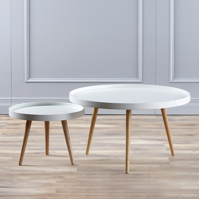 Minimaliste Moderne Salon Meubles Table Basse Ronde En Bois