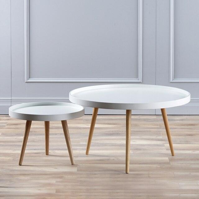Minimalistische moderne Woonkamer Meubels Salontafel ronde houten ...