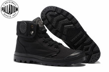 PALLADIUM Pallabrouse All Black Sneakers Men High top Military Ankle Boots Canvas Casual Shoes Men Casual Shoes Eur Size 39 45