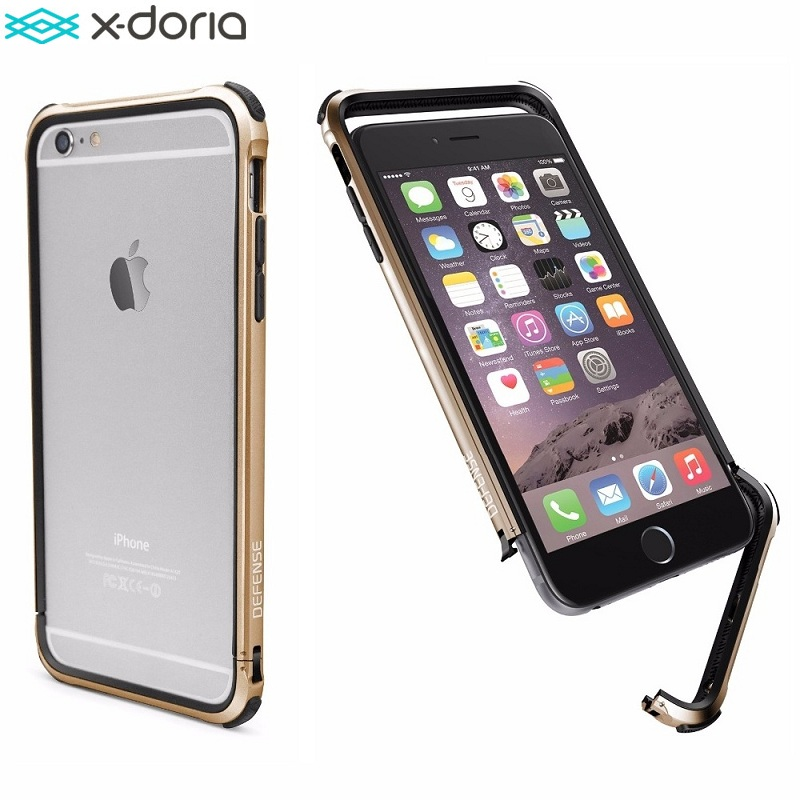 X-Doria Defense Gear [Military Grade Drop Tested] TPU & Aluminum Protective Bumper Case for Coque iPhone 6 / 6s Cover Capinha