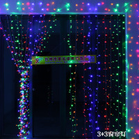 Christmas Product Trade Export Scene Layout Outdoor Waterproof Solar Lights 12V Lights Curtain 3 3 Curtain