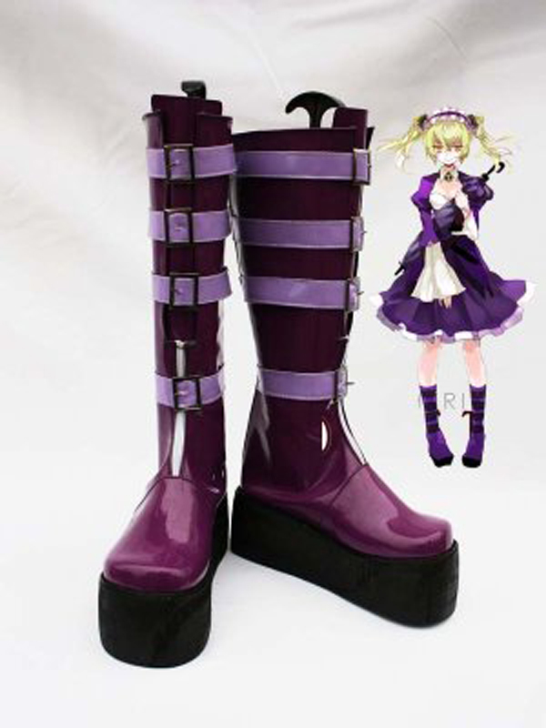 Unlight GrandGuignol Sher Purple Halloween Cosplay Boots Shoes Game Party Cosplay Boots Custom Made for Adult Women Shoes