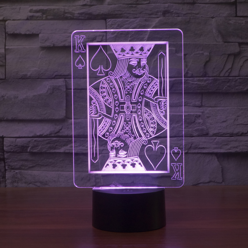 poker chip 3d led lava lampe lighting flash night light. Black Bedroom Furniture Sets. Home Design Ideas