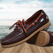 2016 Spring /Autumn Fashion Casual Men's Boat shoes European style Lace-up Flat Round toe lightweight men's shoes