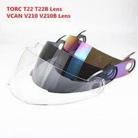 2016 Free Shipping TORC T22 T22B Vcan 210 Bluetooth Helmet Visor Filp Up Motorcycle Helmet Lens