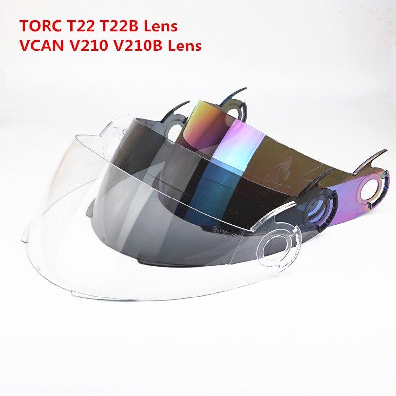 TORC T22 T22B motorcycle helmet Replacement lens Vcan V210 V210B flip up helmet Glasses bluetooth modular helmet shield