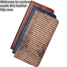 RL07 Genuine Leather Phone Case With Card Holder For Blackberry Key2 Phone Bag For Blackberry Key2 Flip Case With Kickstand