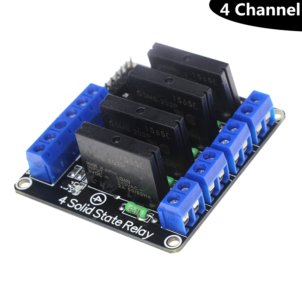 1 2 4 Channel Solid State Relay G3mb 202p Dc Ac Pcb Ssr In 5vdc Power Relays D4