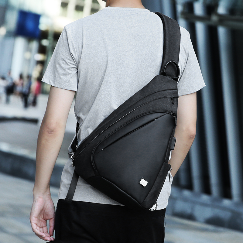 USB Recharging Chest Sling Bag - Multi-functional Shoulder Bag 3