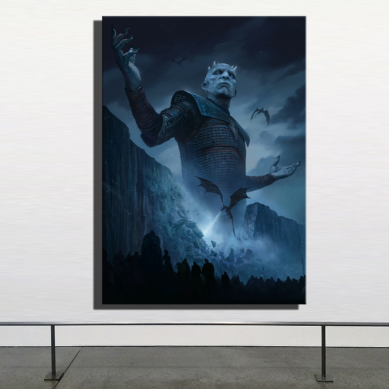 Hd Print Us Tv Show Game Of Thrones Boss Night S King Painting