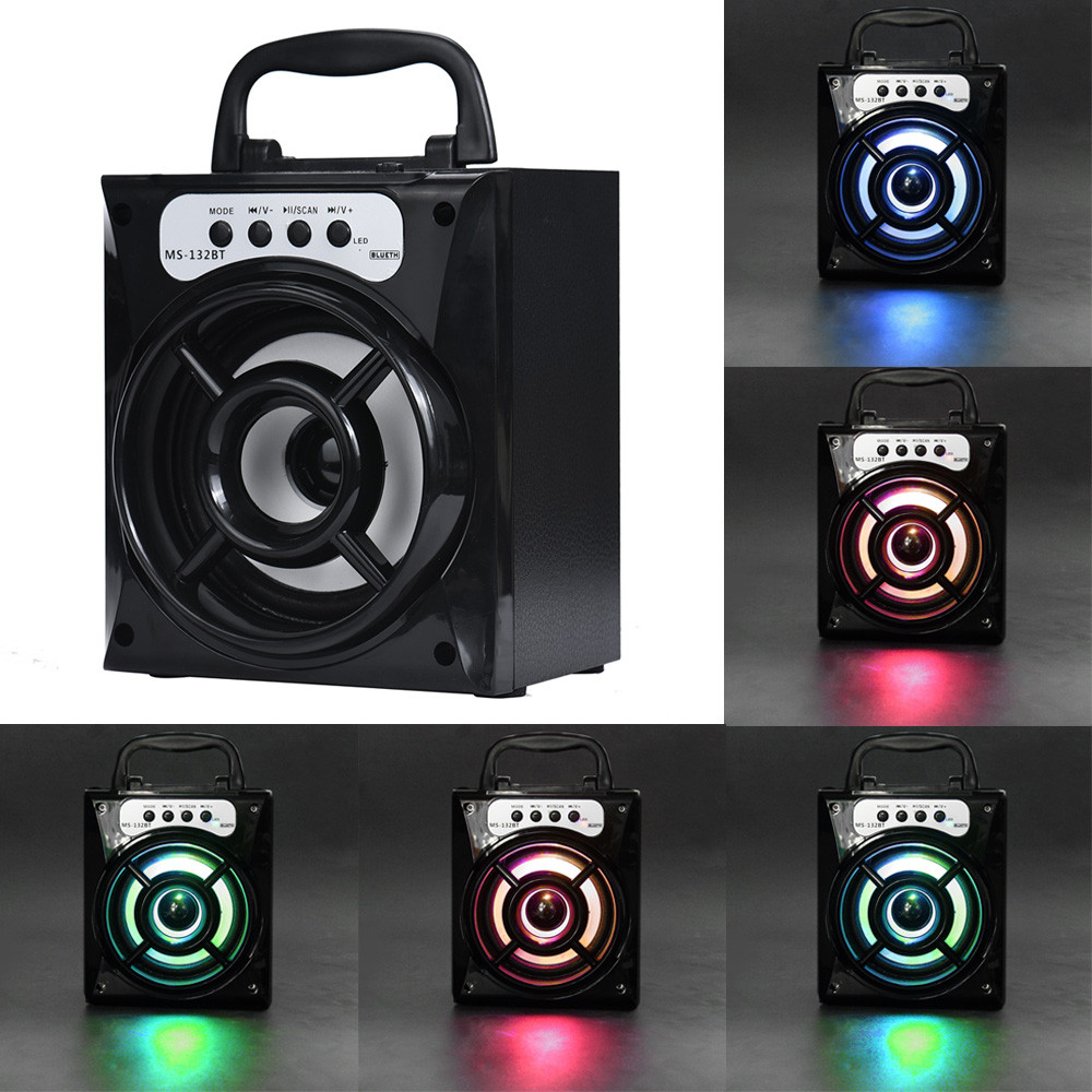 Portable Bluetooth Speaker Outdoor Bluetooth Wireless Portable Speaker Super Bass with USB/TF/AUX/FM Radio Subwoofer#S