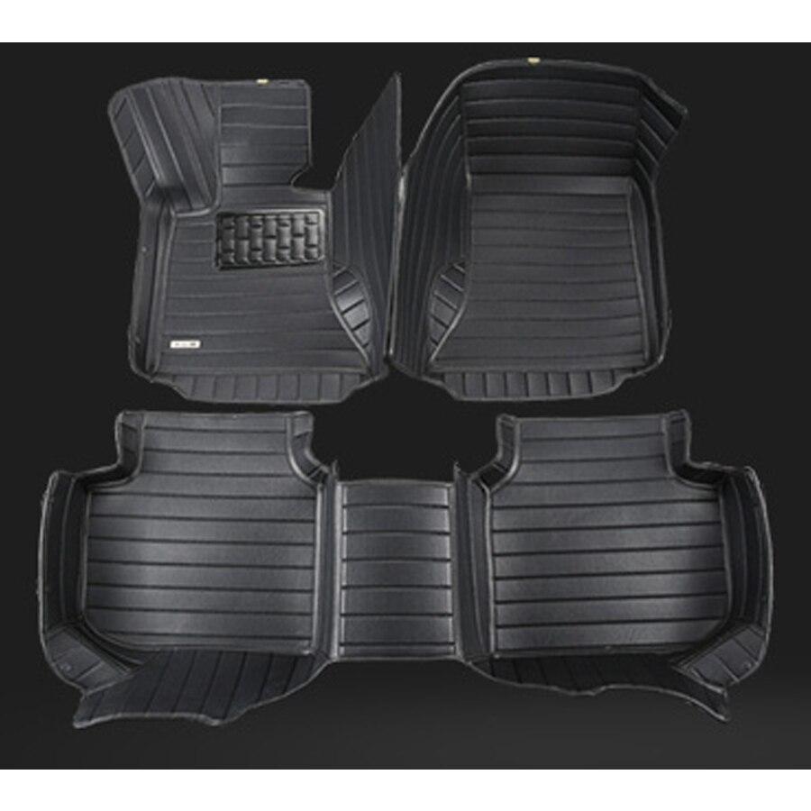 Livraison gratuite fiber de voiture en cuir tapis de sol pour nissan x-trail classique t30 2000-2008 2006 2007 2005 2004 2003 2002 1er génération