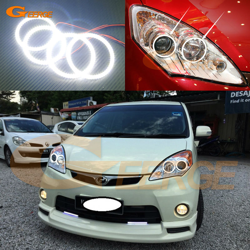For Perodua Alza 2009 2010 2011 2012 2013 2014 2015 Excellent Ultra bright illumination smd led Angel Eyes Halo Ring kit for lifan 620 solano 2008 2009 2010 2012 2013 2014 excellent ultra bright illumination smd led angel eyes halo ring kit