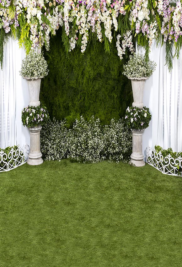 Vinyl photographic background white grass flowers to celebrate the vinyl photographic background white grass flowers to celebrate the wedding backdrop photocall professional customize in background from consumer electronics mightylinksfo