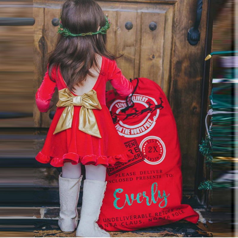 Long Sleeve Girls Dress 1 2 3 4 5 Year Baby Red Christmas Costume Backless Bow Children Princess Birthday Clothing Kids Dress new year girl dress princess costume long sleeve christmas dresses red kids clothes flower bow robe fille children vestido 4 11y