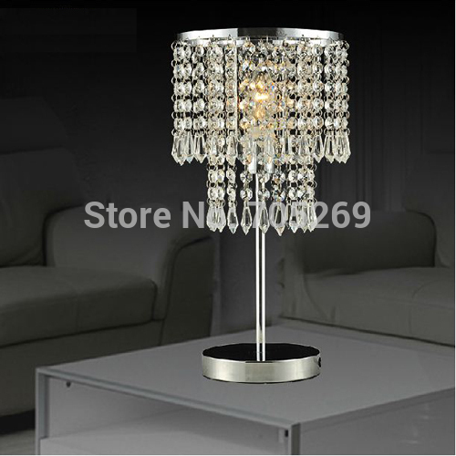 Lamp lighting fashion brief modern 's crystal desk lamp bedroom table lamps modern brief fashion ofhead lamps table lamp
