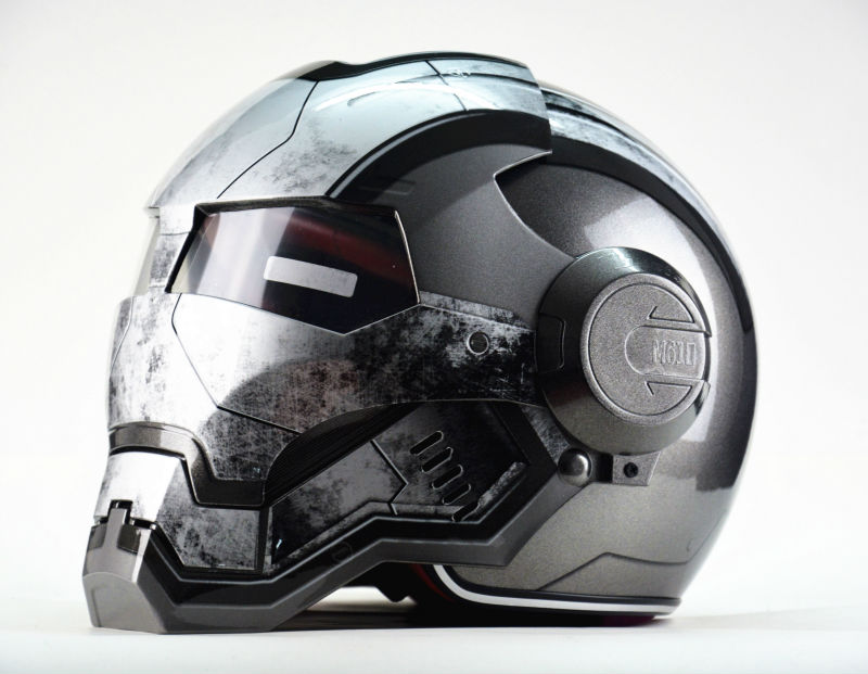 Masei War Machine Grey Herre Damer IRONMAN Iron Man Hjälm Motorcykel Hjälm Halvhjälm Öppna Ansiktshjälm ABS Casque Motocross
