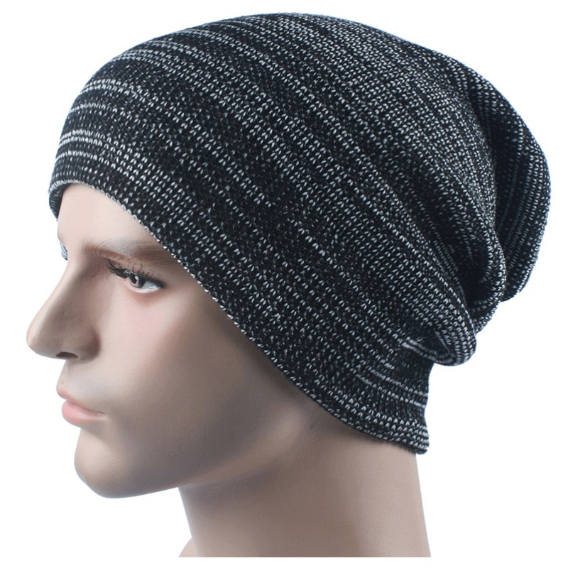 Winter Mens Ladies Knitted Cotton Blended Oversized Slouch Beanie Hat Cap Unisex Women Warm Beanie hot winter beanie knit crochet ski hat plicate baggy oversized slouch unisex cap