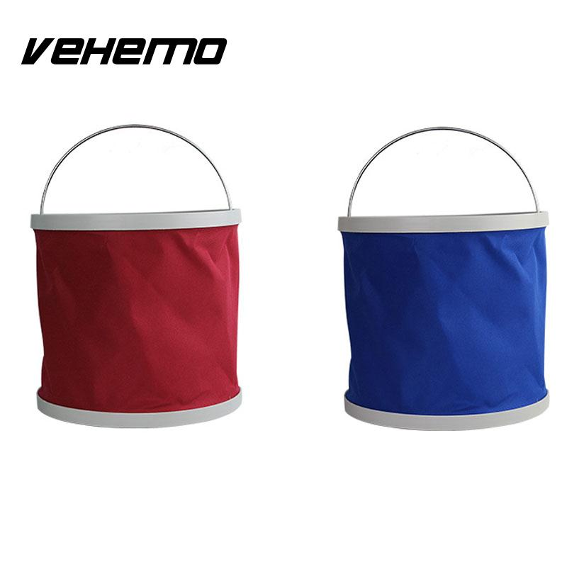 Vehemo Outdoor Fishing Camping Foldable Folding Collapsible Bucket Cars Barrel