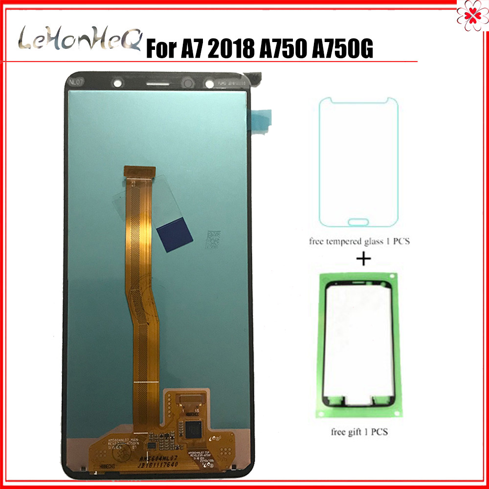 For Samsung Galaxy A7 A750 A750G SM A750F LCD Display Touch screen Digitizer Assembly For samsung A7 2018 A750 Original Display-in Mobile Phone LCD Screens from Cellphones & Telecommunications