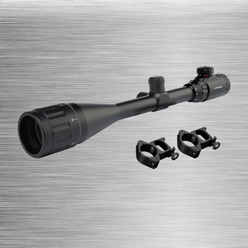 ФОТО New 6-24X50 Adjustable Green Red Dot Illuminated Tactical  Reticle Optical Sight Scope for Riflescope