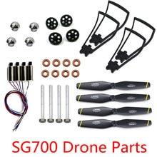 Original SG700 DM107 Drone Spare Parts Motors Engine Gears Propellers Cover Landing Tripod Gear Kits