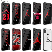 Desxz Basketball Jordan 23 Cover Glass Case For Xia
