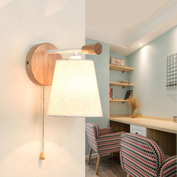 Modern Wood Wall Lamp Bedroom Bedside Sconce Corridor Aisle Night Lights Fixture Luminaire Reading Wall Lamps As Decor Crafts