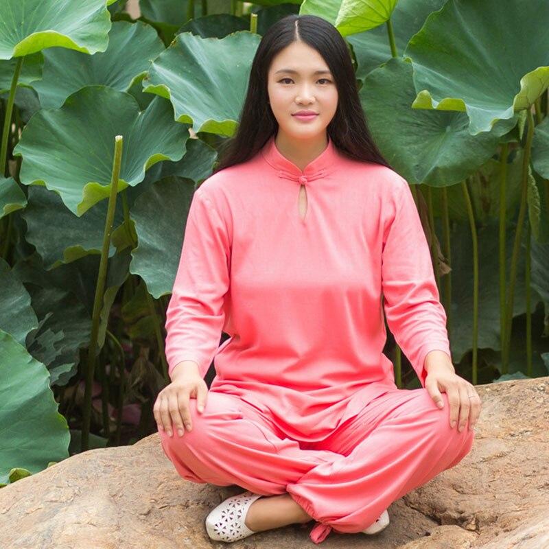 USHINE 14 Style chinois Tai Chi vêtements Woomu à manches longues KungFu uniforme TaiChi uniforme Taichi vêtements Yoga costume femme