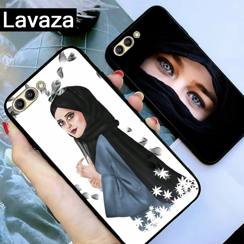 Lavaza Beautiful Muslim Girls women Silicone Case for Huawei Honor 6A 7A 3GB Pro 7X 8 Lite 8X 8C 9 Note 10View 20 9X in Fitted Cases from Cellphones Telecommunications