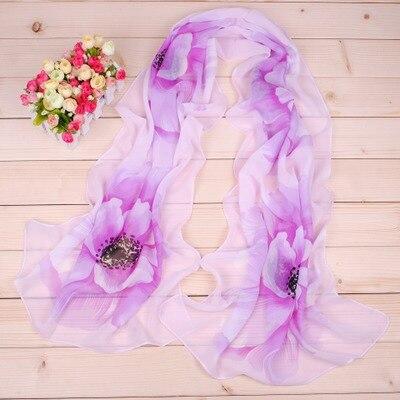 Soft Women Chiffon   Scarf   Floral Flower Printed   Scarves     Wrap   Shawl 160cm