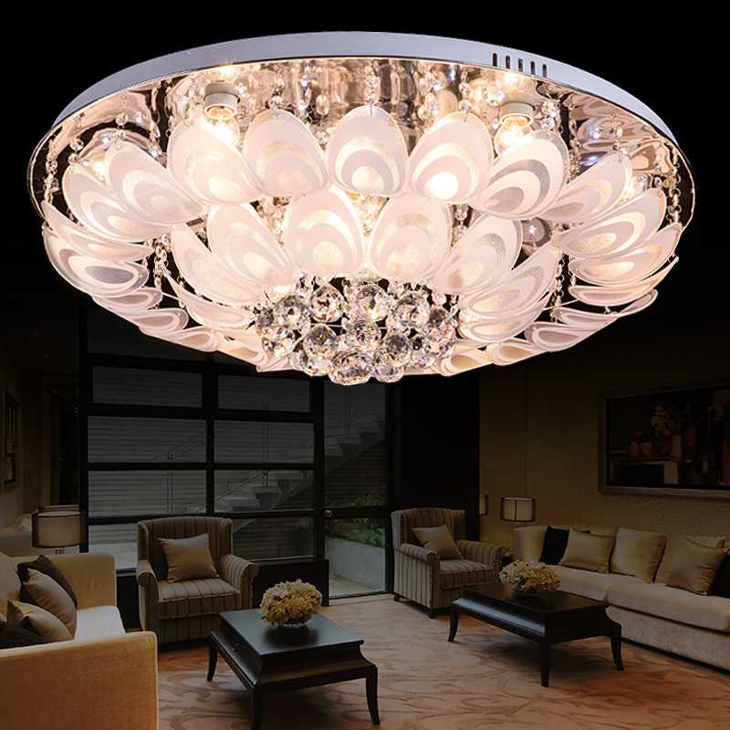 LED Pendant Crystal Lamp Manufacturers Selling Modern Living Room Lamps Ceiling Peacock