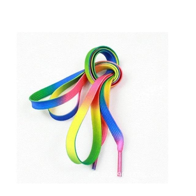 110 cm couleur arc-en-ciel lacet Sport athlétique baskets lacets plats lacets chaussures lacets plat 50 paires/lot via DHL