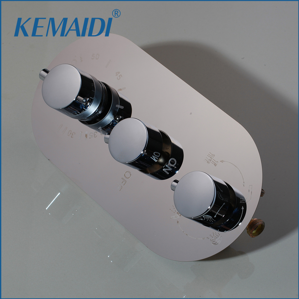 KEMAIDI Shower Mixing Valve Mixer Bathroom Bath Shower Faucet Mixer Valve Wall Mounted Faucets Thermostatic Shower