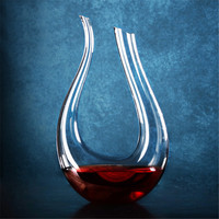 1PC 1500ml Unique Elegant Crystal Glass Wine Decanter Red Wine Carafe Aerator With Handle Container Dispenser