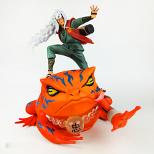 цена Anime Naruto Shippuden Gama Sennin Jiraiya Necromancy Gama-Bunta Action Figure PVC Toy Brinquedos Collection 30cm онлайн в 2017 году