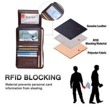 Genuine Leather RFID wallet for Men