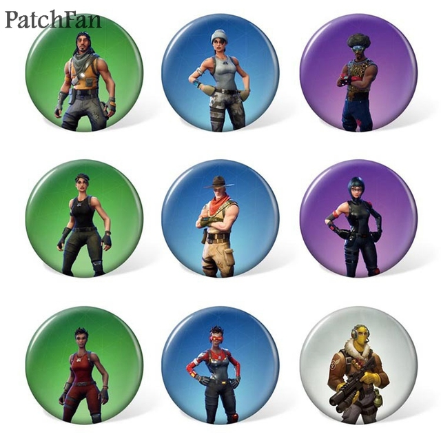 10sets/lot Patchfan game 9pcs/set Pins backpack clothes brooches for men women diy  hat clothes decoration badge medal A1133 1