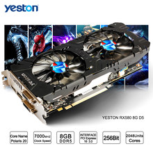 Yeston Radeon RX 580 GPU 8 GB GDDR5 256bit Game Komputer Desktop PC Video Kartu Grafis Dukungan DVI/HDMI PCI-E X16 3.0(China)