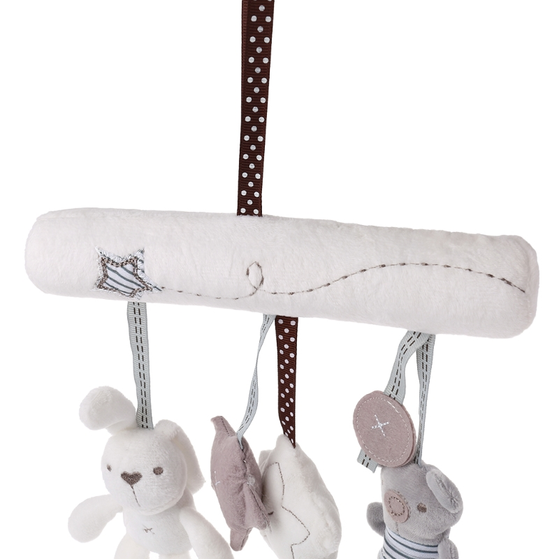 Plush Doll Hanging Bed Baby Stroller Car Toys Cute Rabbit Star Stuffed Cradles 'lrz #3