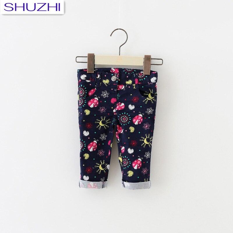 Shuzhi Mode Baby Mädchen Skinny Jeans Hosen Weichen Bequemen Neugeborenen Leggings Kinder Mädchen Print Stretch Voll Hosen