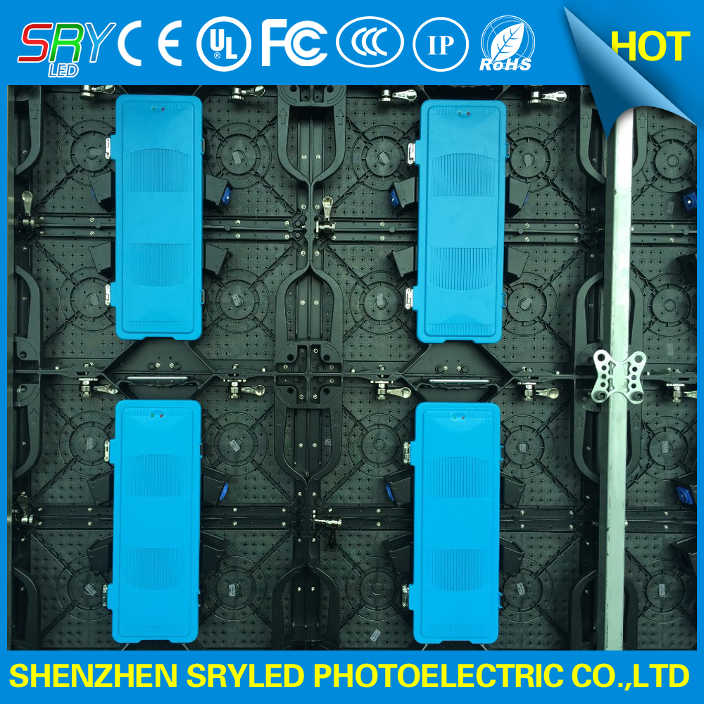 Indoor Full Color P4 81 Rental LED Display with Die cast Aluminum Cabinet 500mm x 500mm