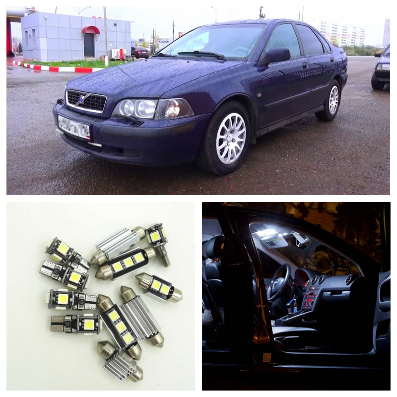 12pcs Canbus White Car LED Light Bulbs Interior Package Kit For 2000 2001 2002 2003 Volvo S40  Map Dome Trunk Door Lamp 2pcs 12v 31mm 36mm 39mm 41mm canbus led auto festoon light error free interior doom lamp car styling for volvo bmw audi benz
