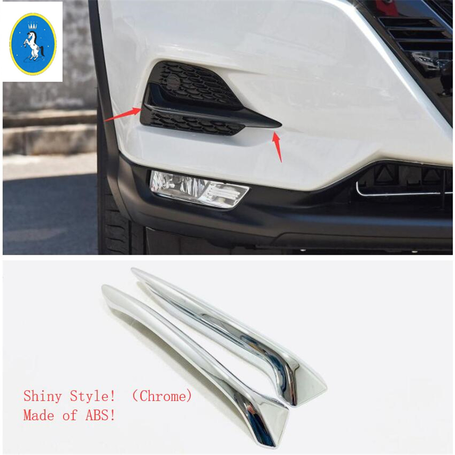 Image 5 - Yimaautotrims Front Fog Lights Lamp Eyelid Eyebrow Cover Trim For Nissan Qashqai J11 2018 2019 ABS Chrome / Carbon Fiber Look-in Chromium Styling from Automobiles & Motorcycles