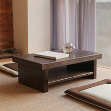 Asian Antique Furniture Japanese Floor Tea Table Rectangle Size 80*40cm Living Room Wooden Laptop Coffee Tatami Low Table Wood