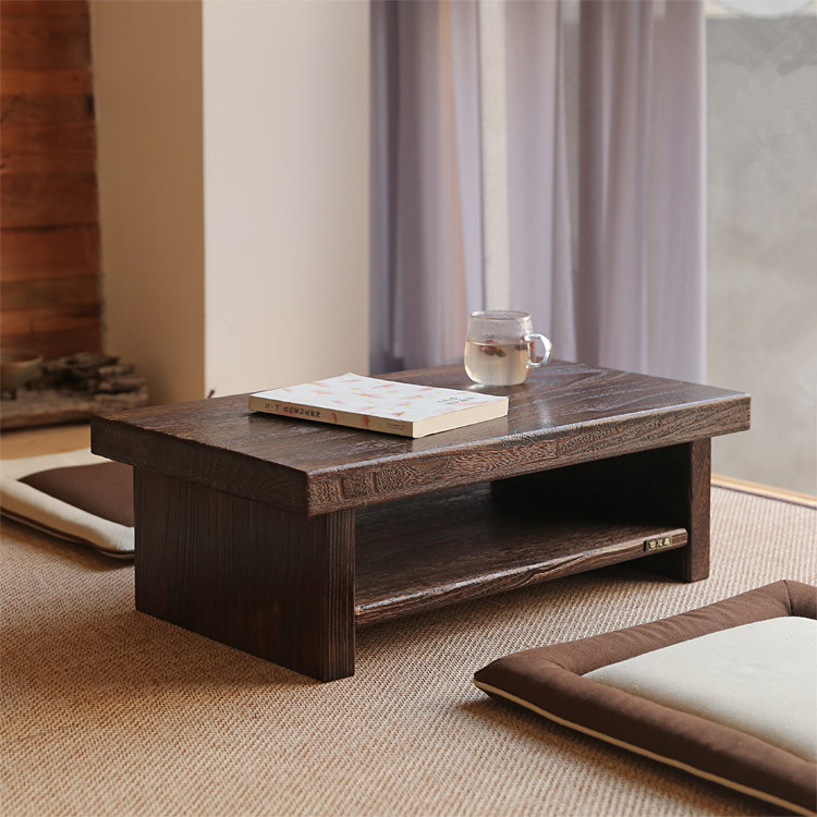 Asian Antique Furniture Japanese Floor Tea Table Rectangle Size 80*40cm  Living Room Wooden Laptop