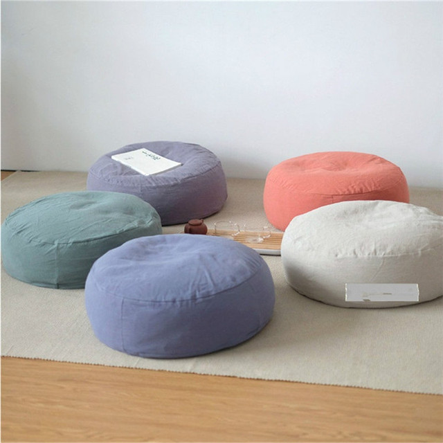 1pcs 30x30x16cm Round Floor Cushion Balcony Tatami Futon Home Restaurant Club Yoga Mat Large Seat