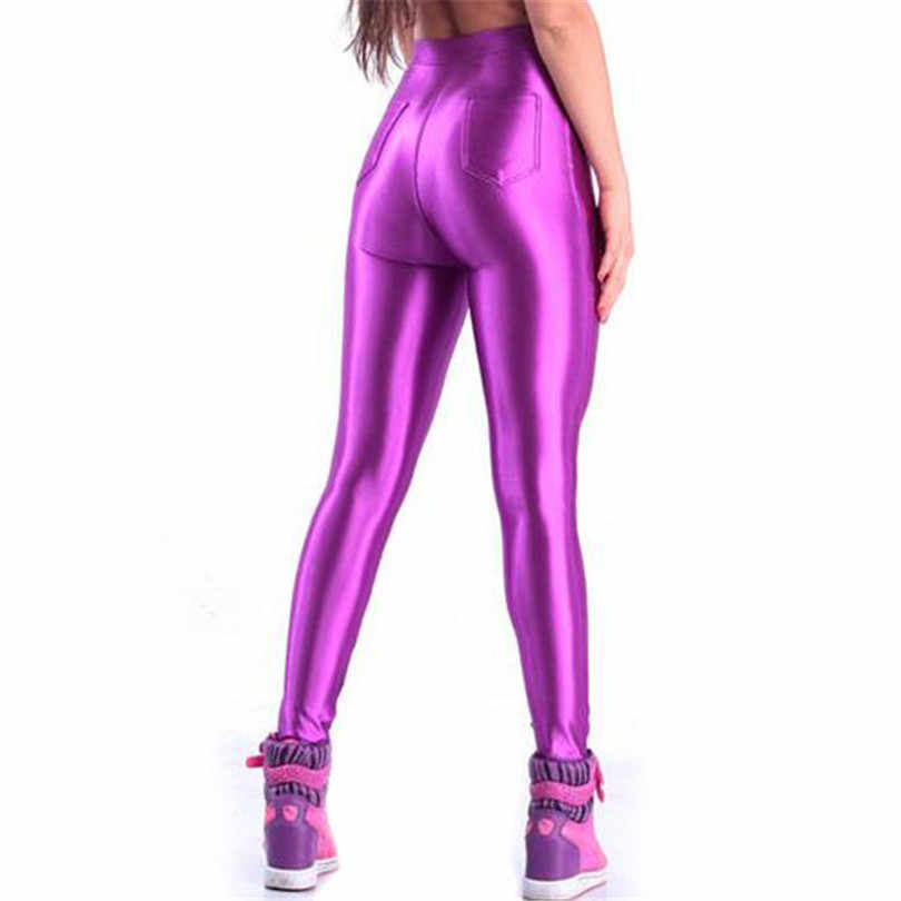 New Women's Cycling Tights Pants Fluorescent Sexy High Waist Stretched Breathable Soft Bike Sport Leggings Gym Fitness Pant K153