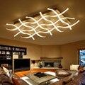 Прямоугольная акриловая современная светодиодная потолочная лампа для гостиной спальни lamparas de techo colgante квадратная Светодиодная потолочна...